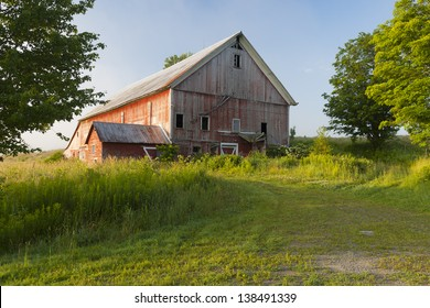 Old barn in a rural setting.