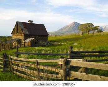 Old barn scene in western Colorado