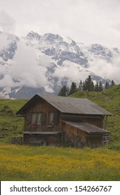Old Barn in Swiss Alps