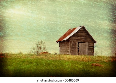 Old barn with vintage texture.