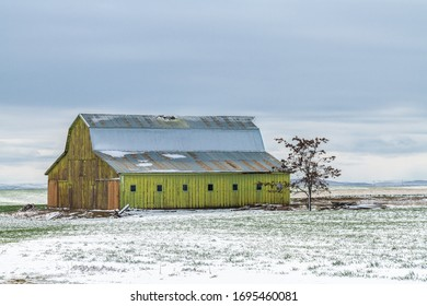 Old Barn in Washington State in Early Spring