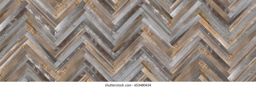 Old Barn Wood Herringbone pattern  Wall Background Panorama
