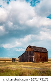 Old barns in the middle of Wyoming