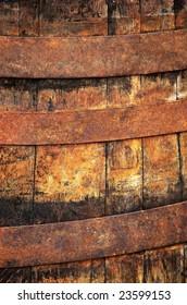 Old barrel close up