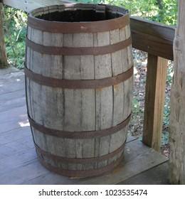 Old barrel on Porch