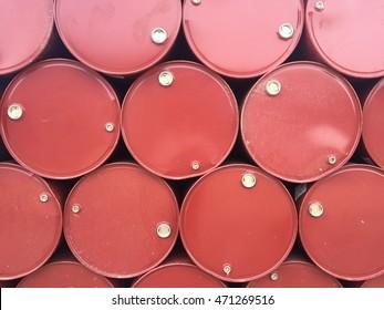 Old barrels stack background