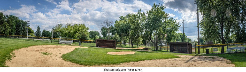 Old Baseball field at park.