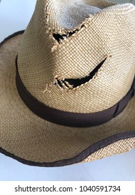 And old battered Panama hat
