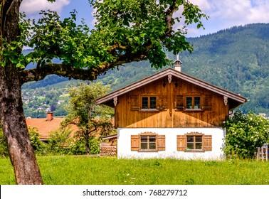 old bavarian farmhouse near munich - germany