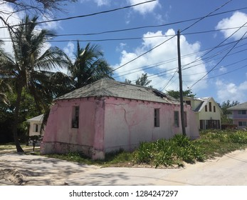 Old beachside house on Bimini Island, Bahamas.