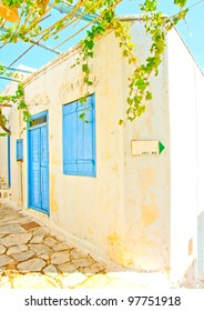 Old beautiful traditional house in Chora the capital of Amorgos island in Greece