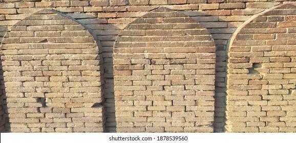 Old beautiful wall design of 18century in Multan Pakistan