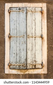 The old beautiful wooden windows in France.