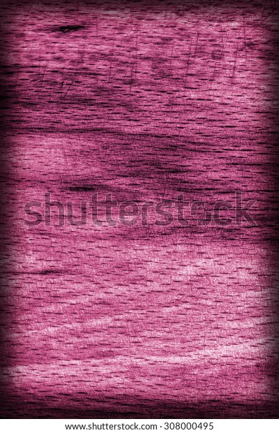 Old Beech Wood, Bleached and Stained, Magenta Vignette Grunge Texture Sample.