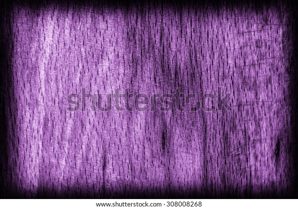 Old Beech Wood, Bleached and Stained Purple, Vignette Grunge Texture Sample.