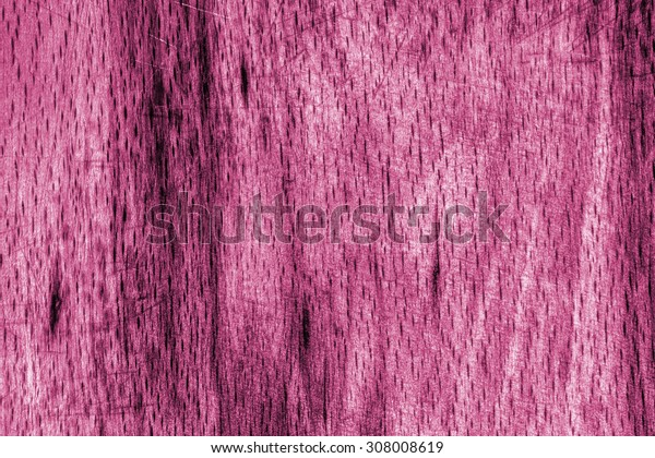 Old Beech Wood, Bleached and Stained, Magenta Grunge Texture Sample.