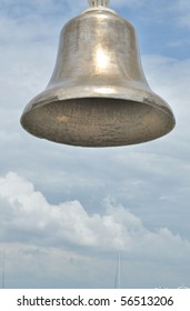 The old bell in the background of the sky
