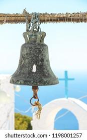 Old bell in small church, Nisyros island, Greece