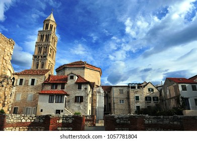Old bell tower of Diocletian palace, Split, Croatia