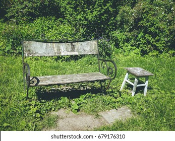 old bench and chair