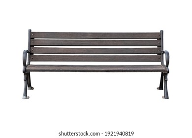 Old bench cut isolated on white background