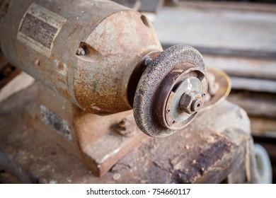 Old bench grinder
