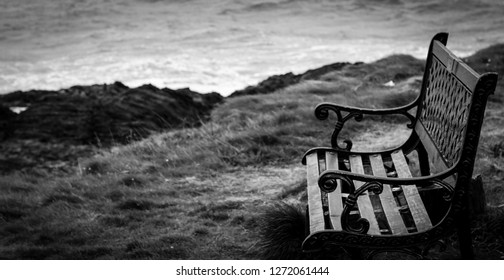 Old bench on coas