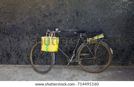 Old bicycle with a