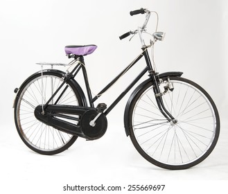 An old bicycle full of retro style
