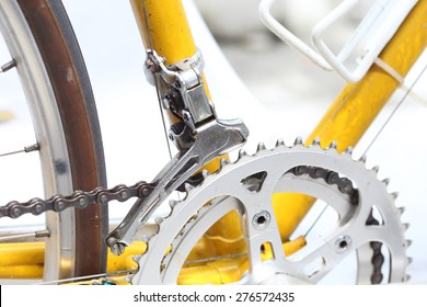Old bicycle with gears