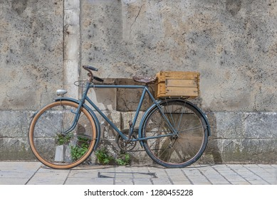 Bike In Front Of Wooden Wall Images Stock Photos Vectors