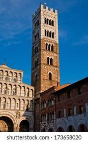 An old big medieval tower in Lucca