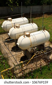 Old Big White gaz  Storage Tanks