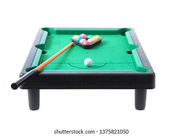 old billiard toy isolated on the white background
