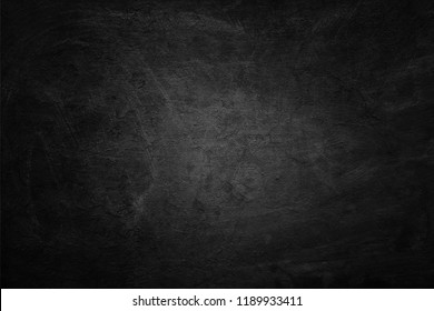 Old black background. Blackboard. Chalkboard texture
