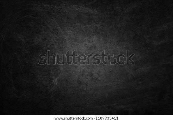 Old black background. Blackboard. Chalkboard texture. Concrete. Cement