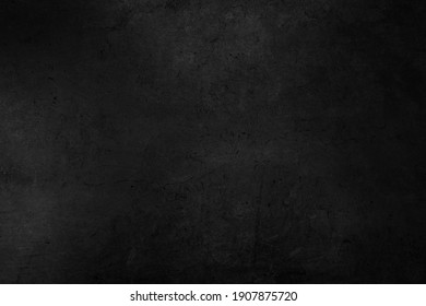 Old black background. Concrete wall texture. Dark wallpaper. Blackboard - Shutterstock ID 1907875720