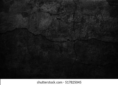 Old black background. Dark grunge texture