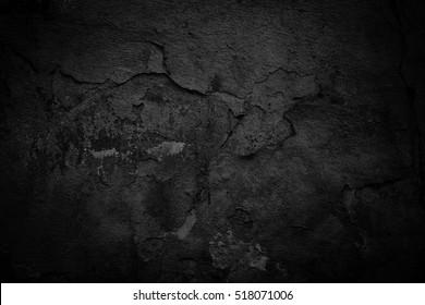 Old black background. Dark grunge texture