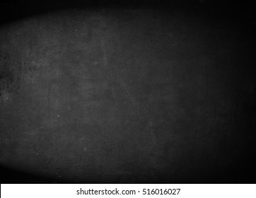Old black background. Grunge texture. Dark wallpaper. Blackboard. Chalkboard. Wall