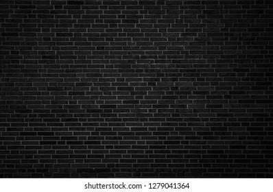 Old black brick wall texture background,brick wall texture for for interior or exterior design backdrop,vintage dark tone.