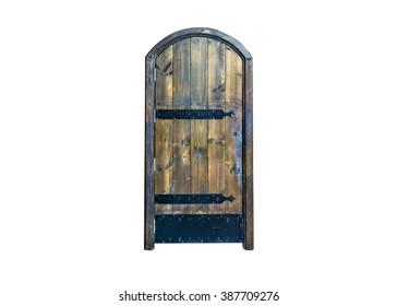 Old black door.