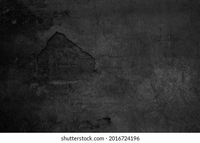 Old black grunge background. Concrete wall. Blackboard. Grung wallpaper - Shutterstock ID 2016724196