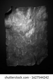 Old black paper on a black background