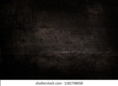 Old black plank wooden wall background