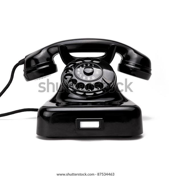 Old Black Retro Phone