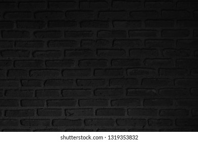Old black stone brick background and texture