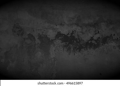 Old black wall. Black background. Black texture. Blackboard. Grunge wallpaper