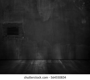 Old black wall. Grunge texture