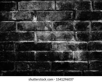 old black white brick wall texture background